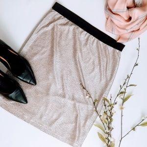 Forever 21 | Metallic Silver Textured Pencil Skirt